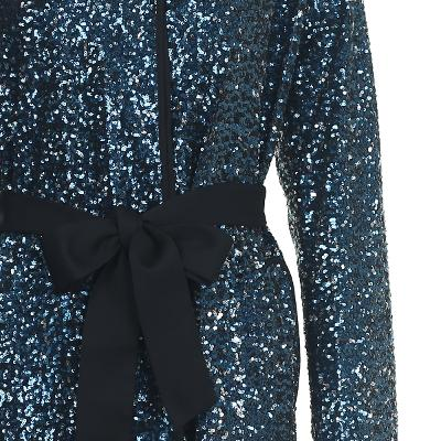 spangle detail ribbon point dress